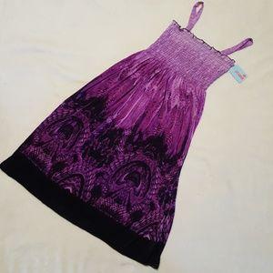 BNWT XL(fits like med)  silky purple sundress